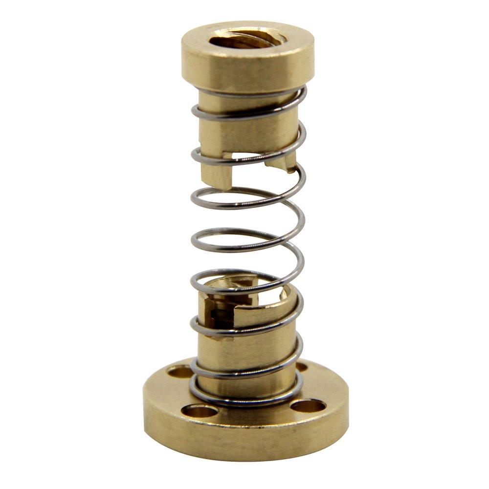 BIQU T8 Anti Backlash Spring Loaded Nut Elimination Nut for 8mm Acme Threaded Rod Lead Screws DIY CNC 3D Printer Parts