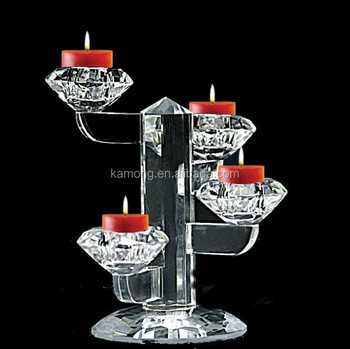 2015 New! wedding table centre piece crystal candelabra