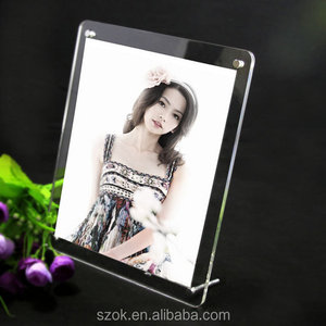 China supplier clear acrylic naked girls photo frame with stainless steel