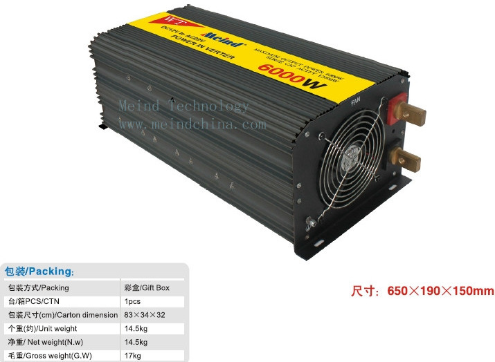 6000W Power Inverter 12V DC to 220V AC Converter Car Inverters AC Adapter Power Supply Meind Wholesale Dropshipping