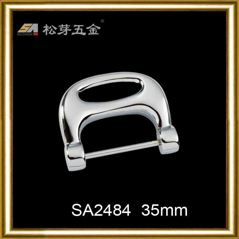 High quality metal fasion bag hardware for bag frame closure hardware
