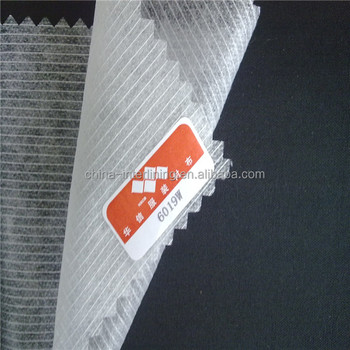 (6019W)needle-punched polyester Stitch non woven fusible interlining fabric