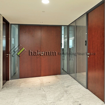 Frosted Glass Interior Doors Office Partition Wall Interior