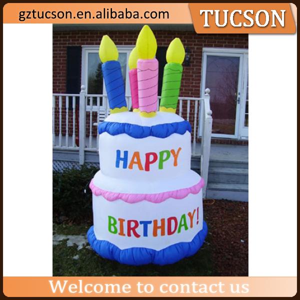 Enjoyable Source Kleurrijke Reclame Opblaasbare Cake Gelukkige Cake Model Personalised Birthday Cards Arneslily Jamesorg