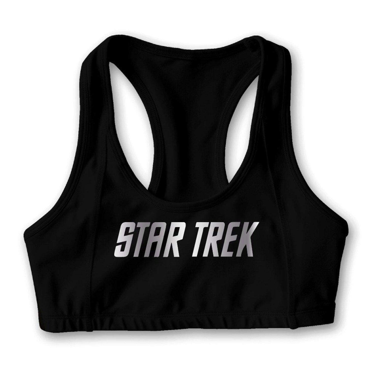 Star Trek Platinum Logo Women's Oxjwn Yoga Sports Bra