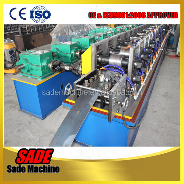 Sheet Aluminum shutter door guide rail cold roll forming machine