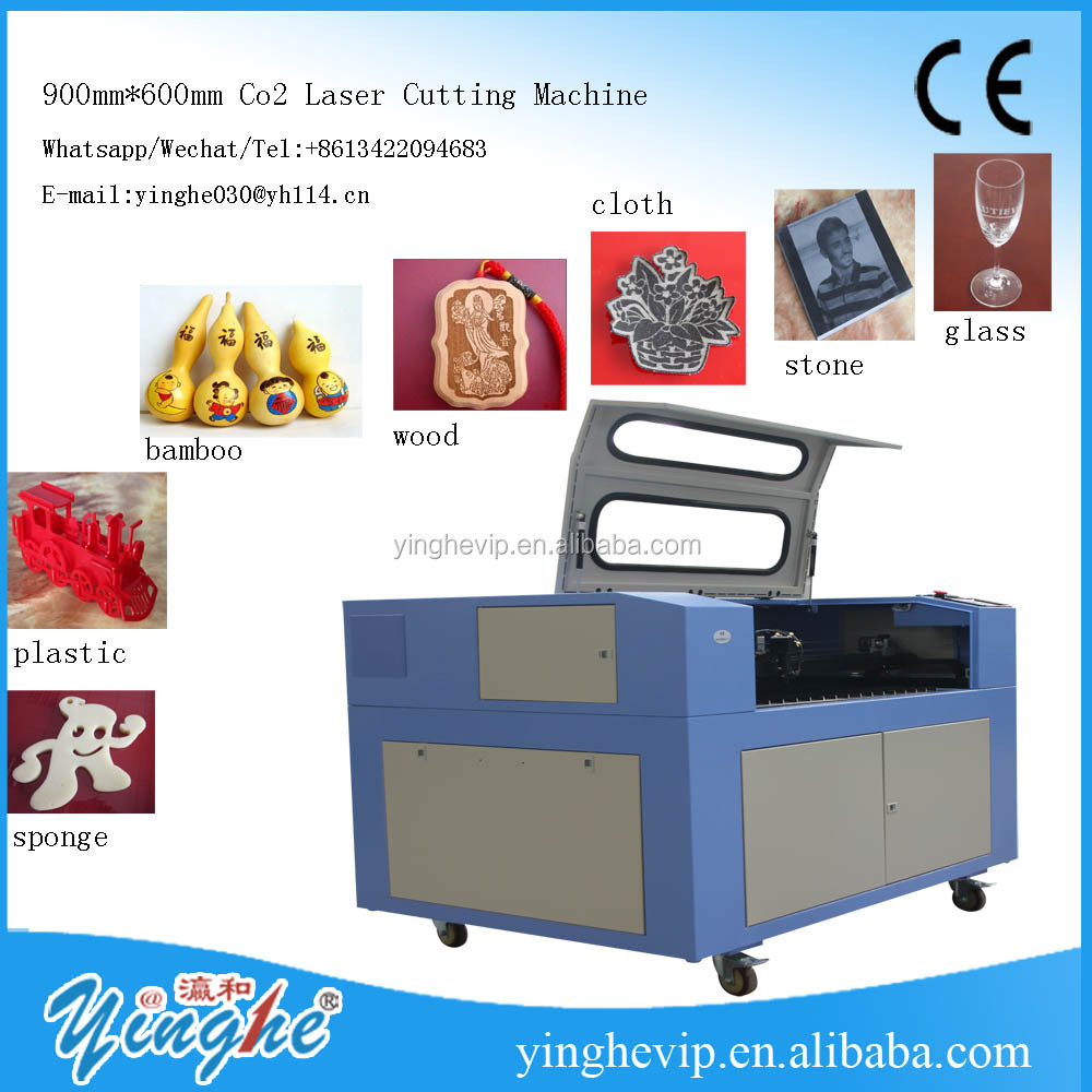 yinghe 600*900mm wood / acrylic / MDF sheet / plastic fabric co2 laser <strong>cutting</strong> and engraving machine