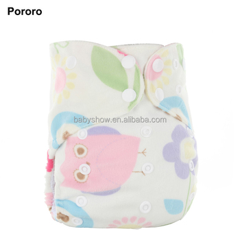 Print Minky Pul Soft Pororo Aio Baby Cloth Diaper Bamboo Baby Cloth