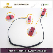 Self-alarming loop alarm sensor cell phone security holder with no charger