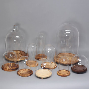 Factory Promotion Glass Bell Stand Glass Stand Cloche