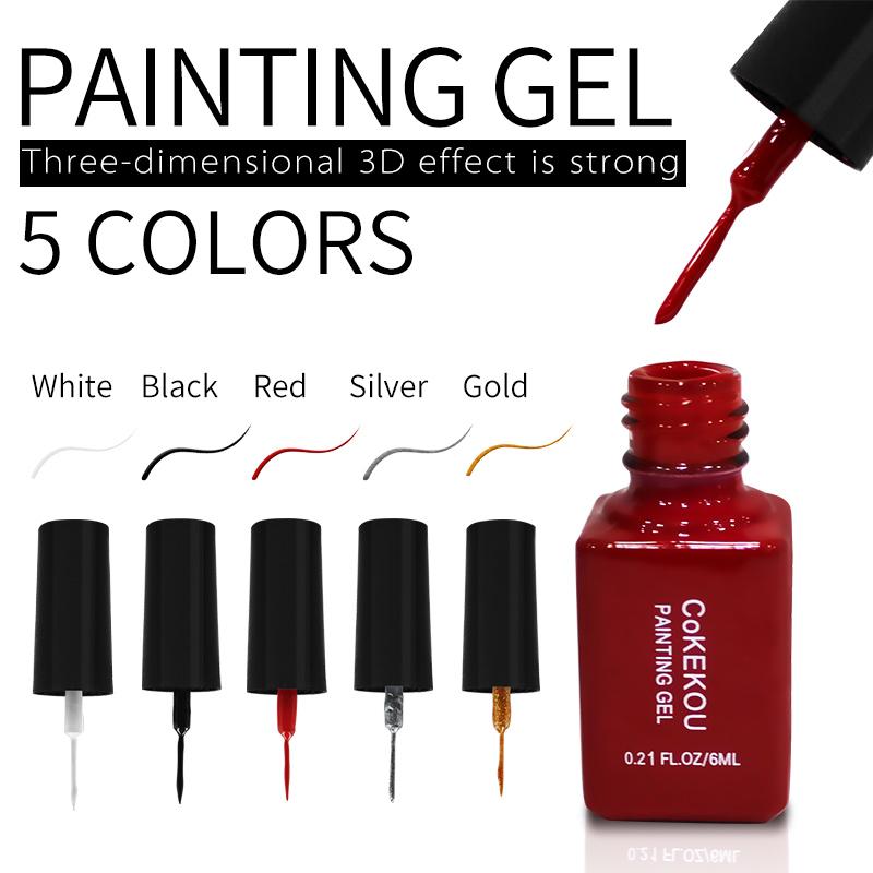 CoKEKOU Link Nail Polish 5 color choice 6ml 3D Effect Natural Resin Nail Art For Wholesale & OEM & ODM We Keep Moving Forward