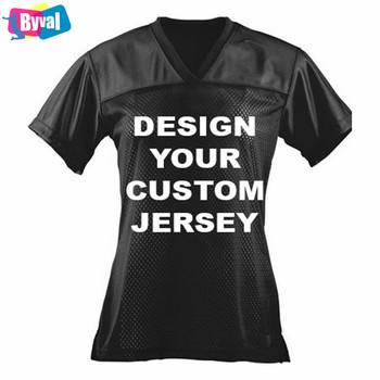 0d7cfe4420e0 Ladies Custom Football Jersey High School Team Uniforms Wholesale Women  Sports Black Jerseys Tops