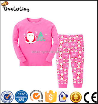 p015 tinaluling kids santa pajamas baby christmas sleepwear children long sleeve pyjama for 2 7t