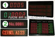 queue LED display wireless queue management system electronic number display system