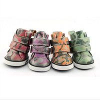 Breathable Pet Non Slip Shoes Dog Waterproof Camouflage Color Sneakers