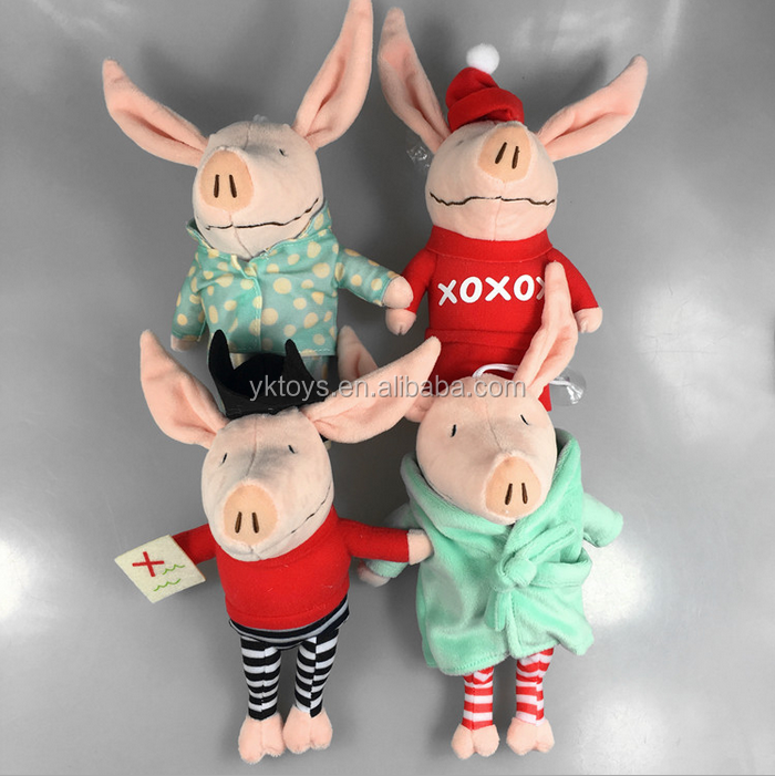 Stuffed Plush fine fabric for soft toy Olivia pig keychain hot sale