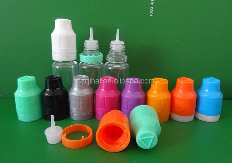 China hot sale 10ml plastic e liquid/cigarette/juice nicotine dropper bottles with childproof cap