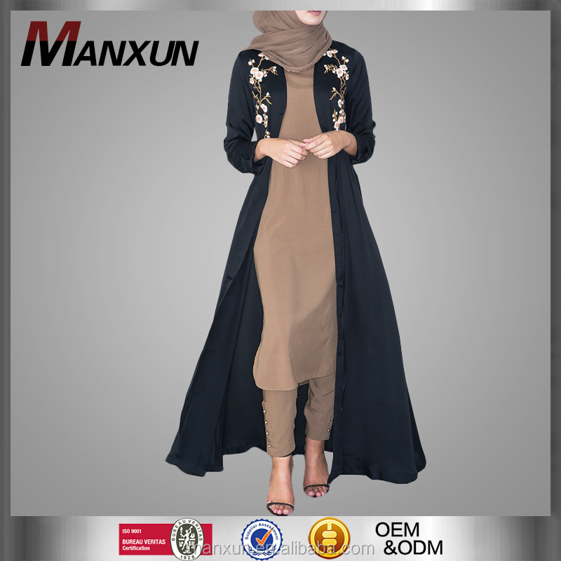 Muslim Long Embroidery Cardigan Women Kimino Cardigan Design Beautiful Special Cardigan фото