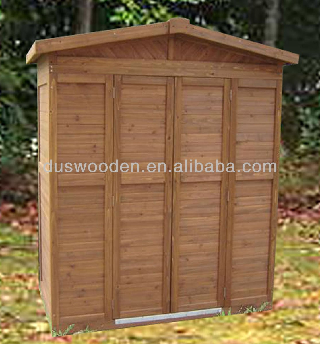 Wooden Shed And Garden Storage Cabinet
