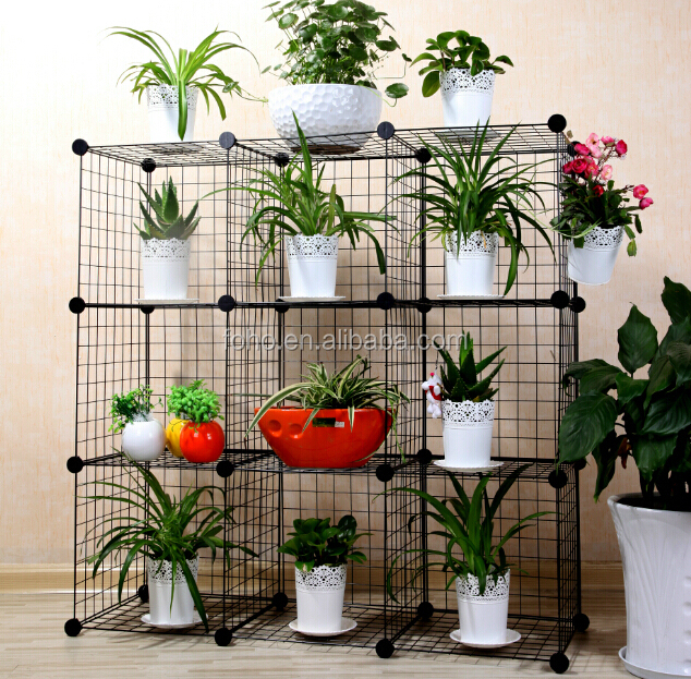 Versatile Grid Wire Modular Shelving And Storage Cubes Wire Grid Shelf FH-W0033