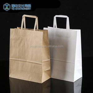 Wholesale Design Print Gift Shopping Brown Mini Kraft Paper Bags With Handles