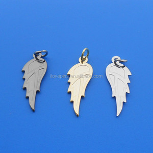 die cut leaf shape metallic charms jewelry gold/silver/nickel plated