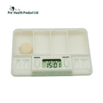 Pillendoos Met Alarm 5 Vakken.4 Vakken Digitale Pillendoos Met Alarm Timer Buy Pillendoos Met Alarm Timer Pillendoos Timer Medicatie Herinnering Alarm Pillendoos Met Timer