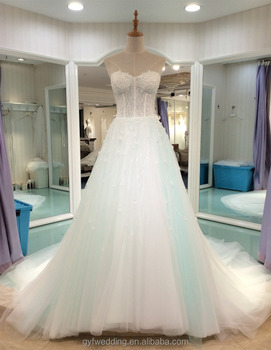 2017 New Arrived Gorgeous Custom Ocean Blue Specail Color Wedding