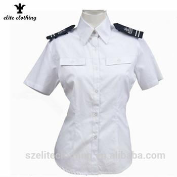 camisa blanca 100 algodón policía