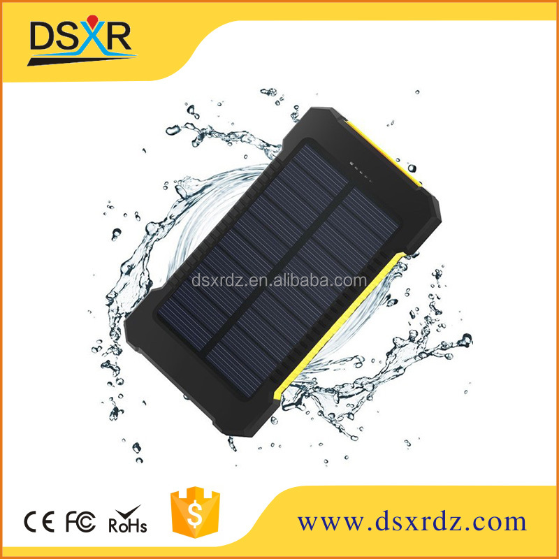 Free sample 8000mAh Portable Solar Power Panel Battery Charger for GPS PDA Mobile Phone and Portable Electronics