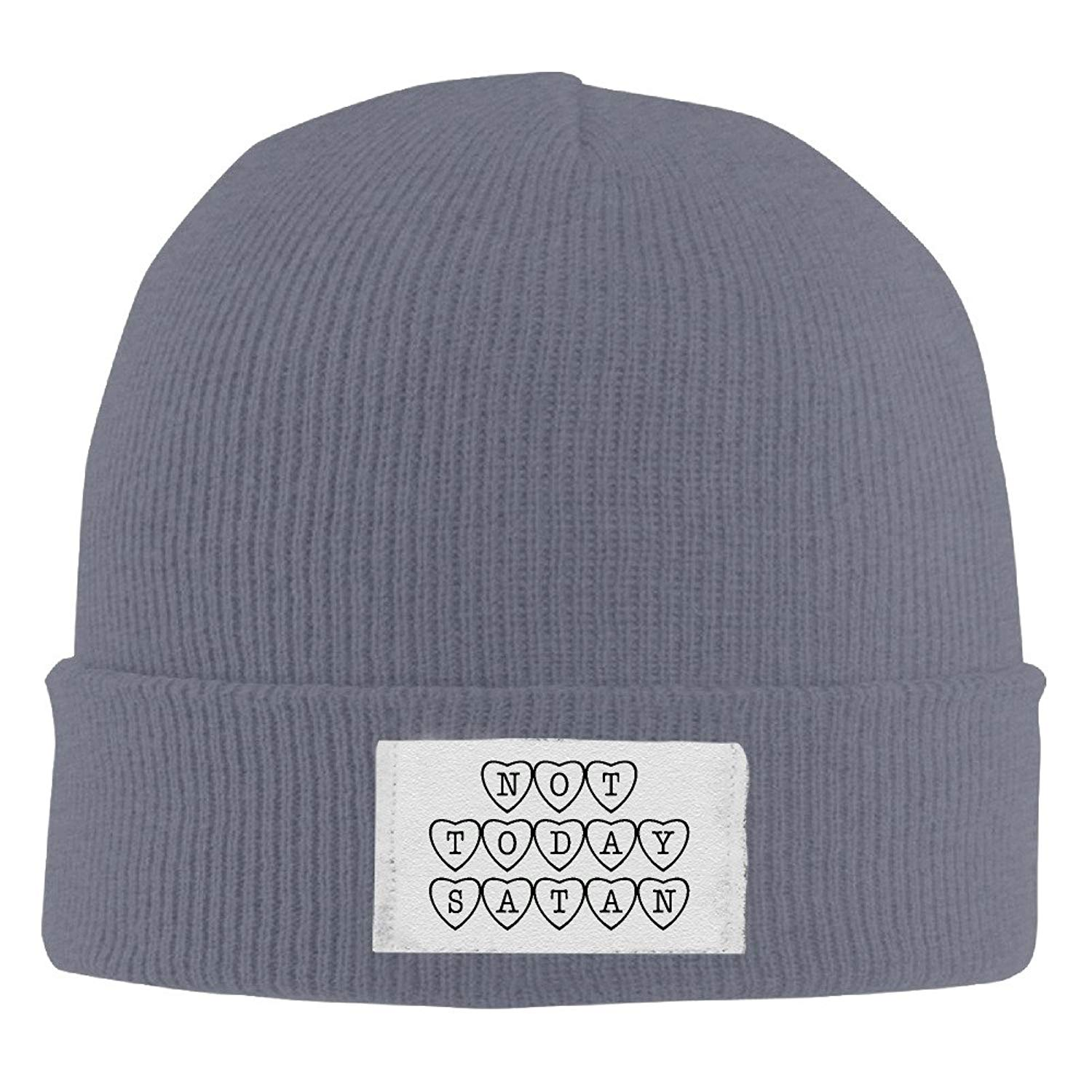 93f8117c003 Get Quotations · Unisex Cute Soft Crazy Warm Not Today Satan Sassy Funny  Quote Caps Wool Ski Warm Hat