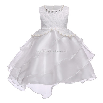 White Lace 3 Year Old Girl Dress For Birthday Party