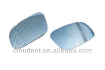 Blue Tinted Aspherical Side Mirror Glass For VW Volkswagen Touran MK1