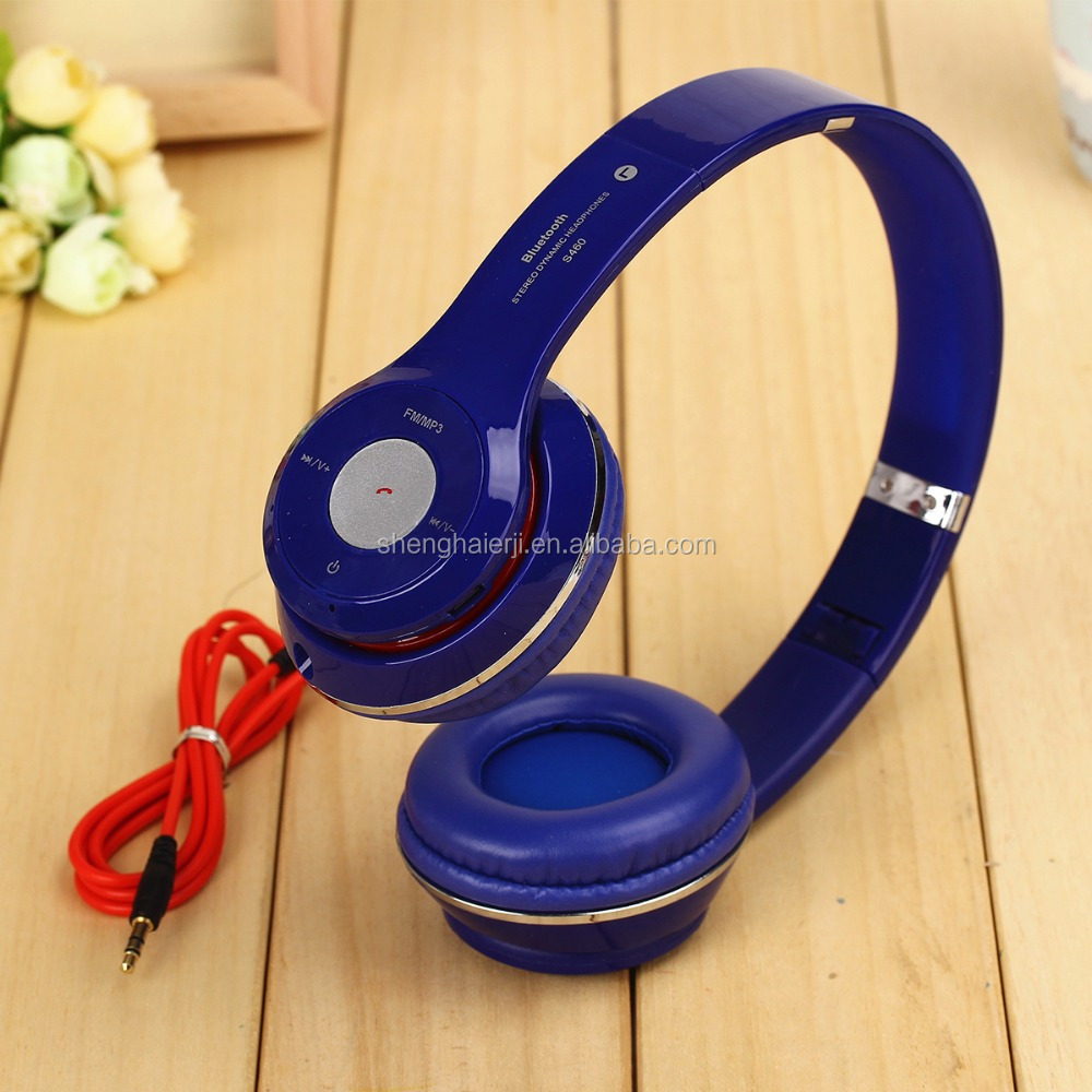 Push to talk bluetooth wireless mp3 headphone with sd card for mobile