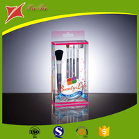 Cosmetic transparent packaging boxes PVC foldable clear plastic box