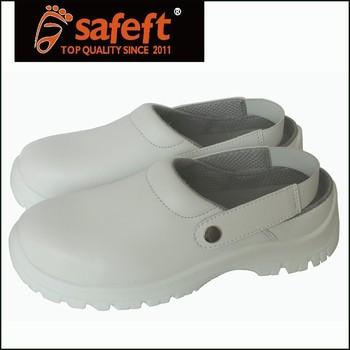 de zapatos Luz punta blancos los enfermería de acero sandalias wXwB0x