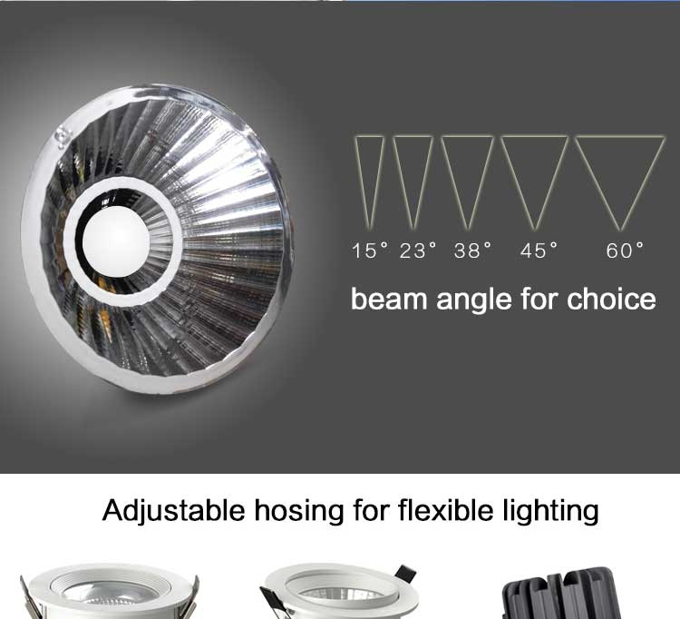 Direction Adjustable Led Downlight Dimmable Led Ceiling Light Led ...