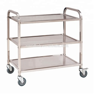 High Quality Wheel Stainless Steel Food Service Cart
