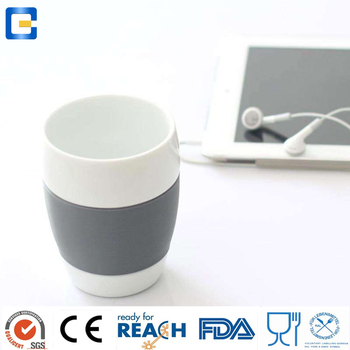 1 cup water in ml, skidproof modern design ceramic coffee mug cup small with silicone sleeve