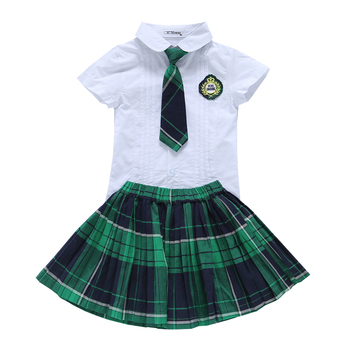 2019 wholesale factory new children clothes summer high school uniform primary