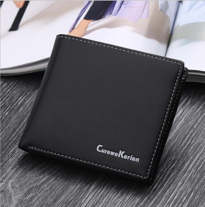 Men's Leather Wallet Male Coin Purse Bag Bifold Checkbook Purse Credit Card Wallet
