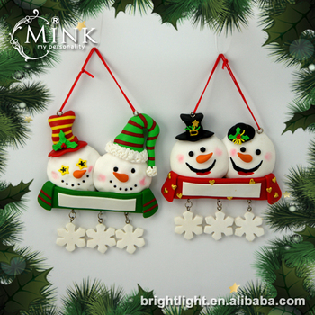 Clay Dough Christmas Ornaments Snowman With Flake Buy Snowman Flake Product On Alibaba Com