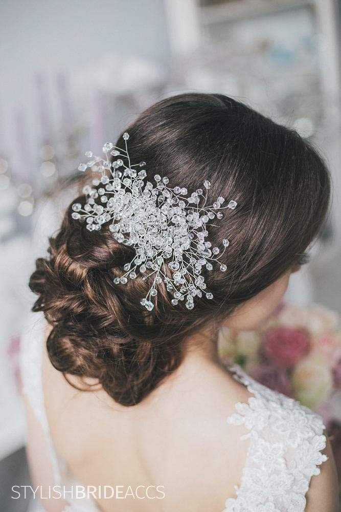 Wedding Crystal Hair Vine, Wedding Pearl Crystal Hair Vine, Pearl Crystal Hair Vine,Bridal Crystal Hairpiece, Bridal Crystal Hair Wreath