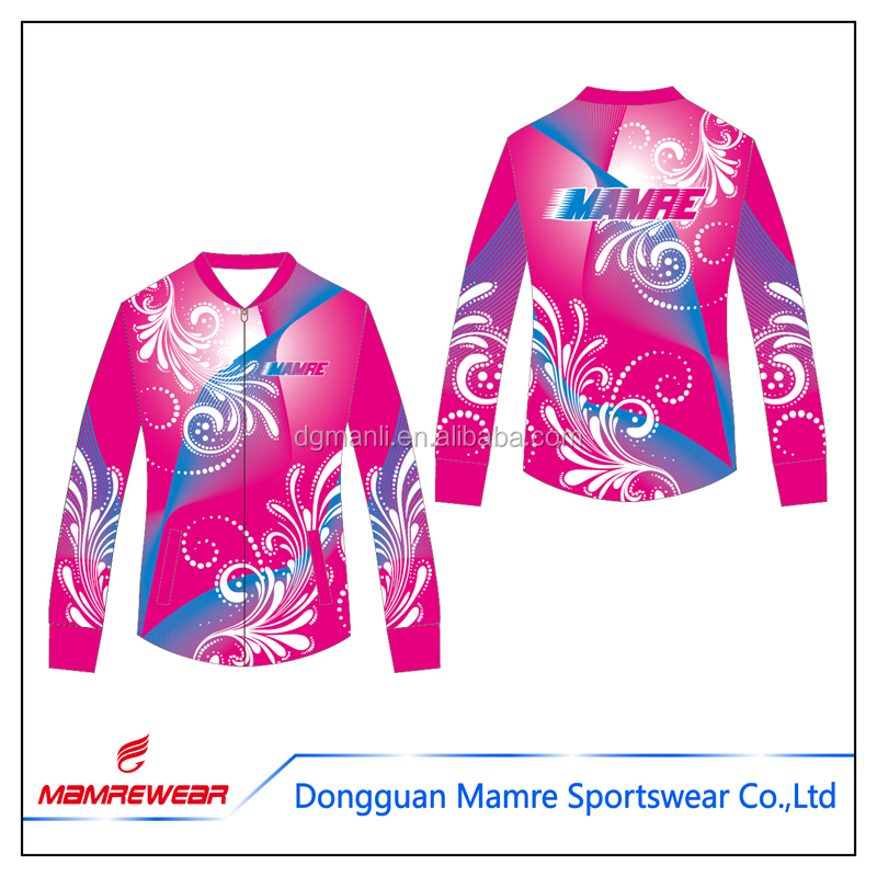 Custom design cheerleading long sleeves jacket,competition cheerleading uniform manufacturer ,sublimation cheer practice wear