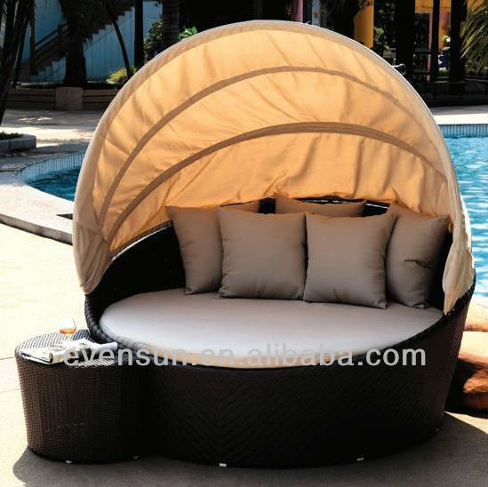 Wonderful Outdoor Wicker Sunbed With Canopy   Buy Outdoor Wicker Sunbed With Canopy, Sunbed With Canopy,Stainless Steel Outdoor Sunbed Product On Alibaba.com