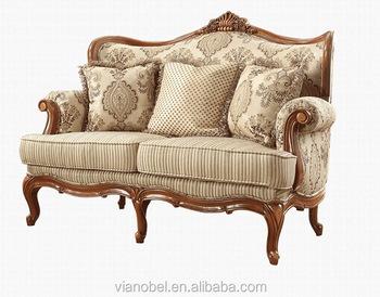 Perancis Formal Desain Kain Sofa Set