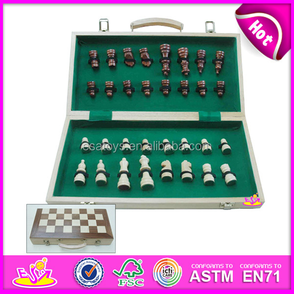 2015 Wooden chessboard game for kids,educational chess game for children,best seller wooden classic chess set for baby W11A004