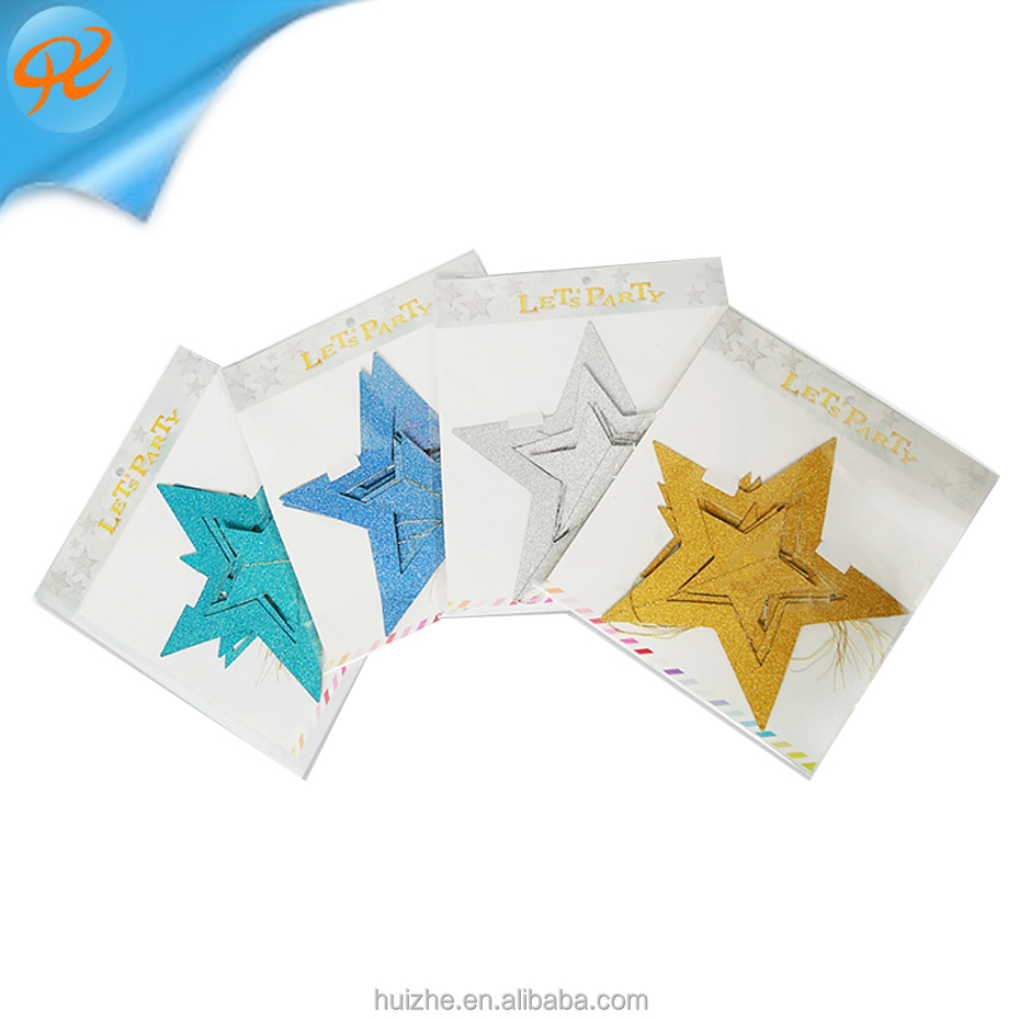 Christmas Ornaments Star Paper Christmas Tree Ornaments Christmas Pendant Ornaments