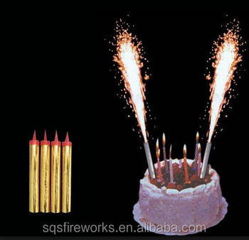 Indoor Cold Flame Birthday Cake Candle Fountain Sparkler Fireworks