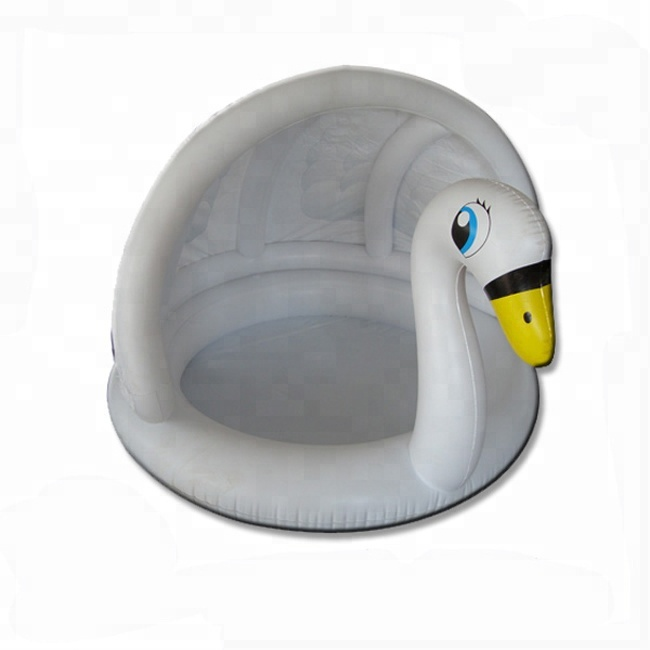 animal shape inflatable white swan pool